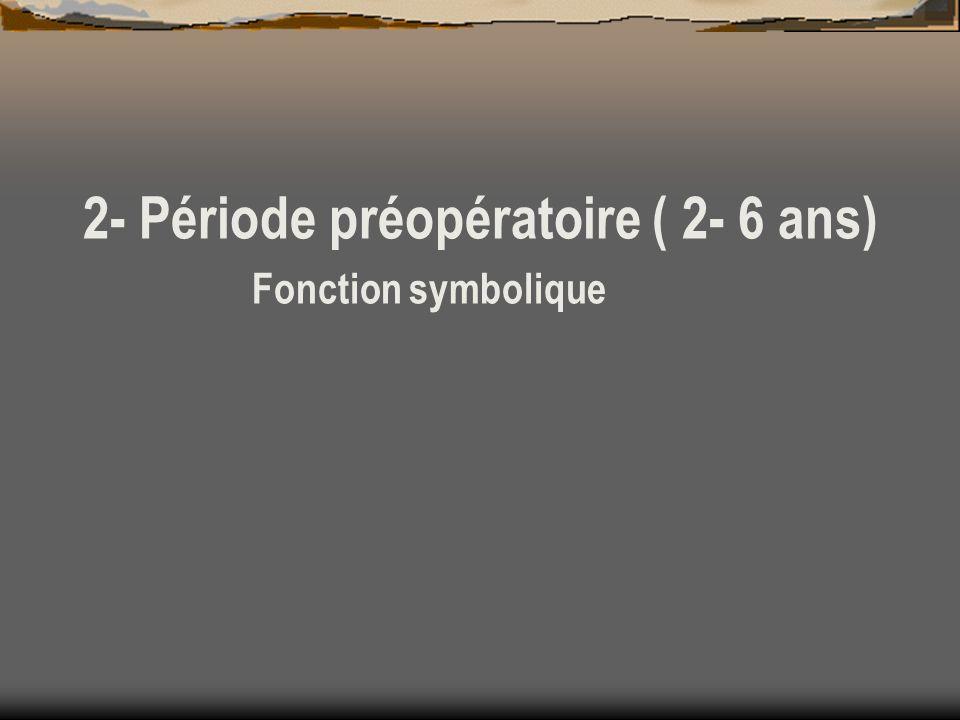2- Période préopératoire ( 2- 6 ans)