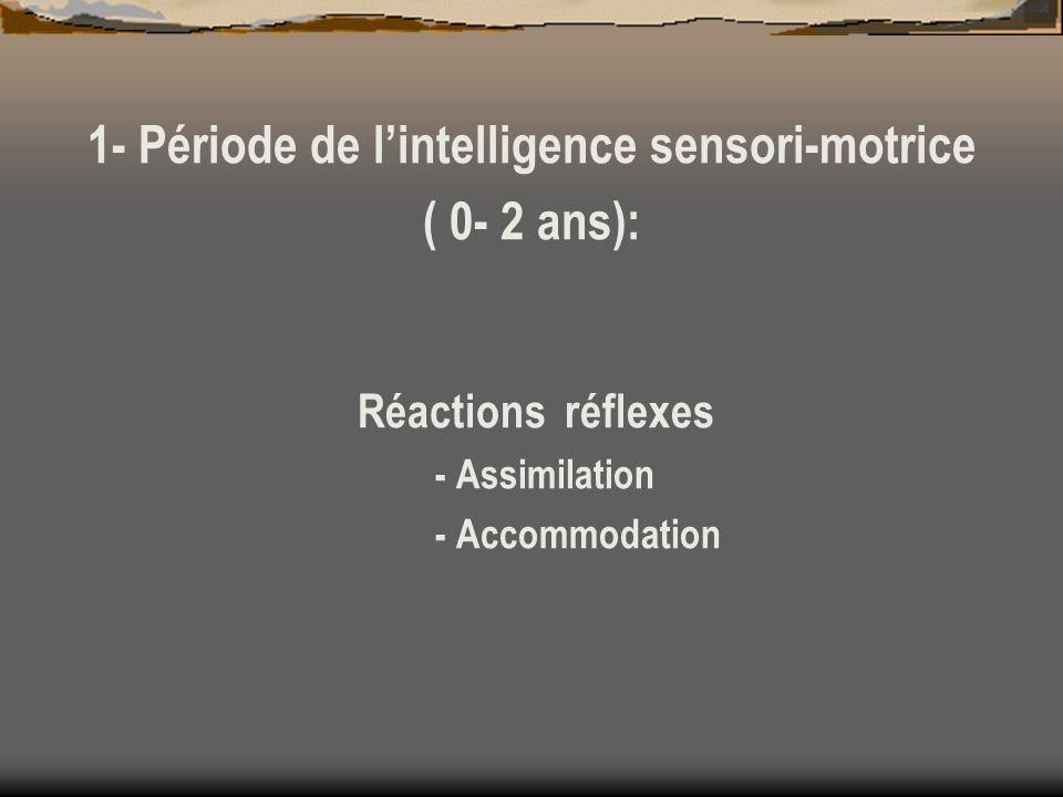 1- Période de l'intelligence sensori-motrice