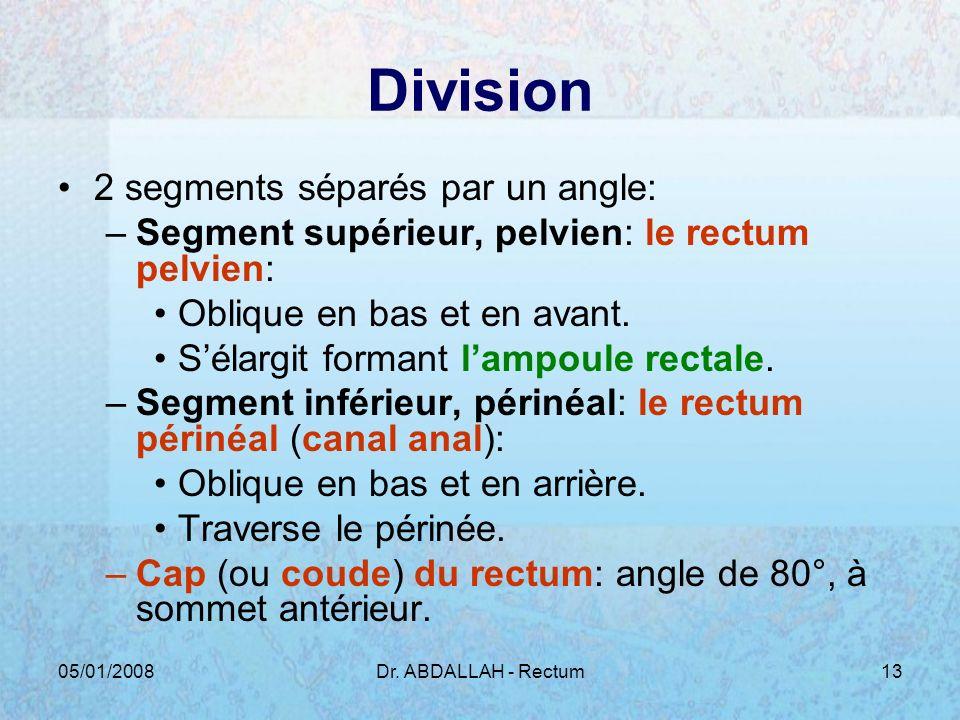 Division 2 segments séparés par un angle: