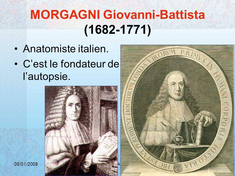 MORGAGNI Giovanni-Battista ( )