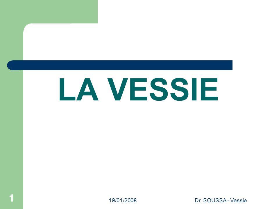 LA VESSIE 19/01/2008 Dr. SOUSSA - Vessie