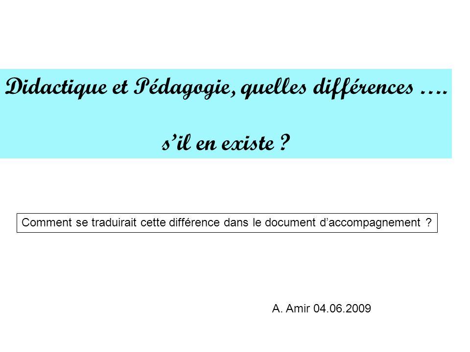 Didactique et Pédagogie, quelles différences ….