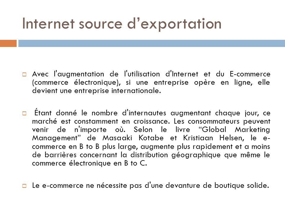 Internet source d'exportation