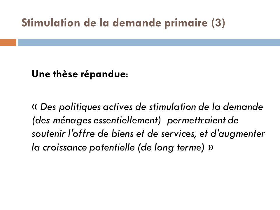 Stimulation de la demande primaire (3)