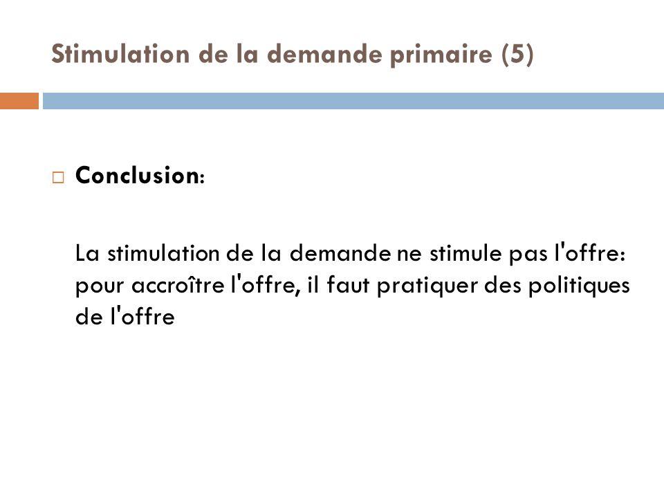 Stimulation de la demande primaire (5)