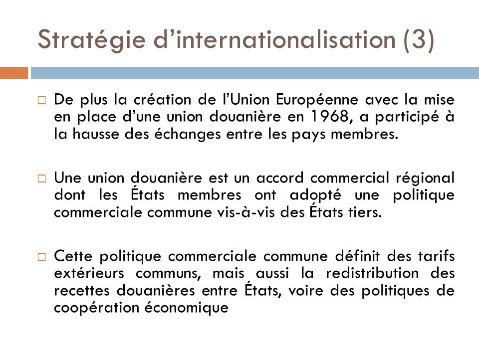 Stratégie d'internationalisation (3)