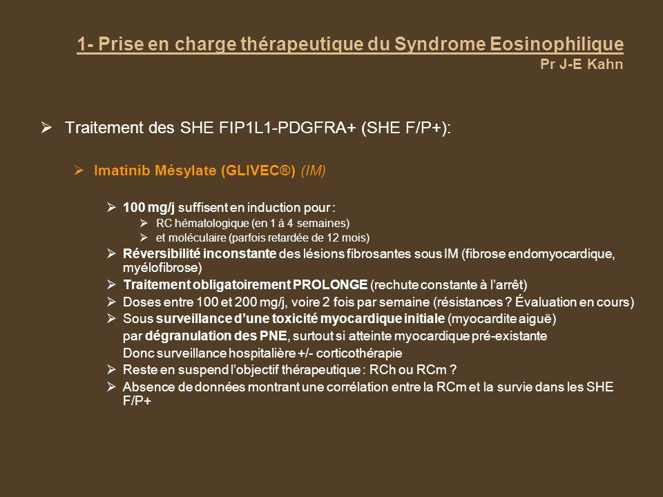 1- Prise en charge thérapeutique du Syndrome Eosinophilique Pr J-E Kahn