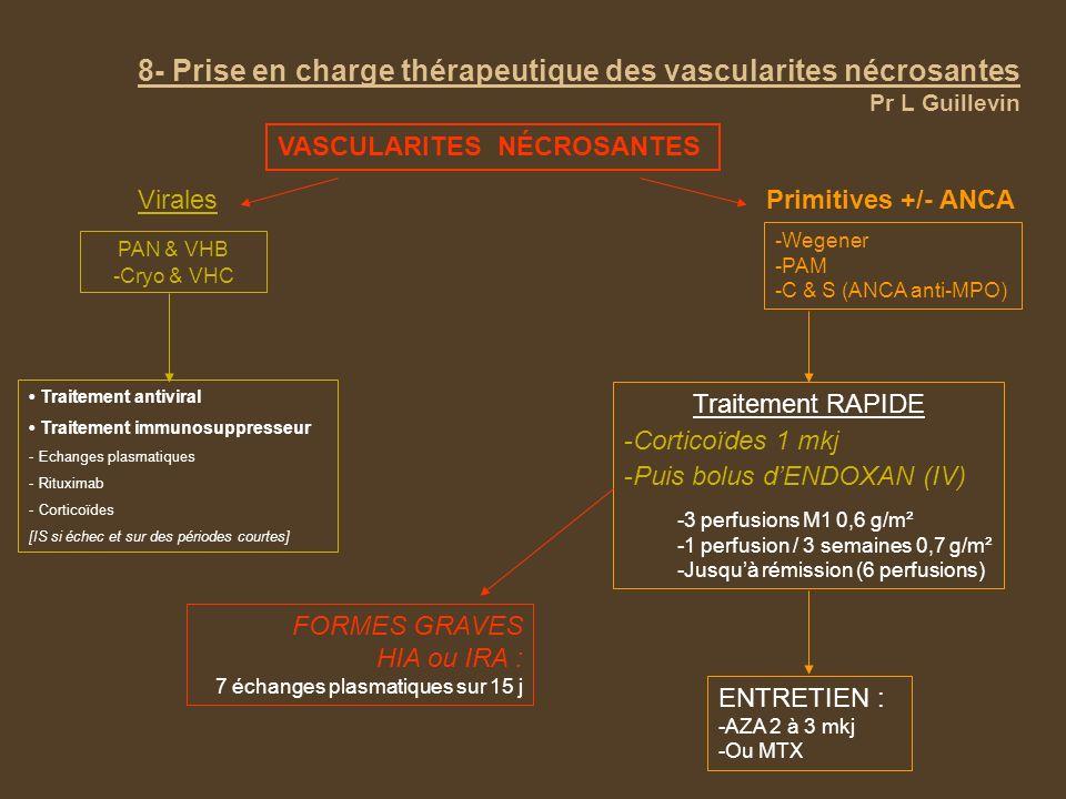 8- Prise en charge thérapeutique des vascularites nécrosantes Pr L Guillevin
