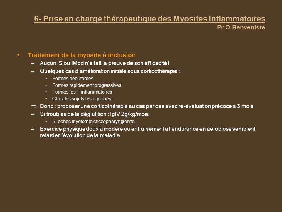 6- Prise en charge thérapeutique des Myosites Inflammatoires Pr O Benveniste