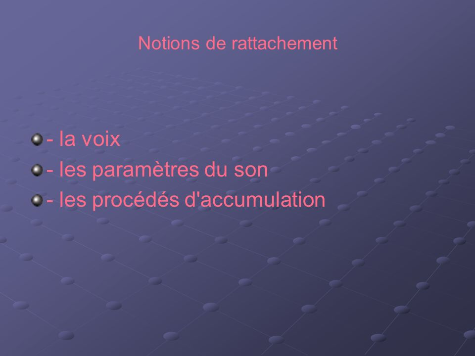 Notions de rattachement