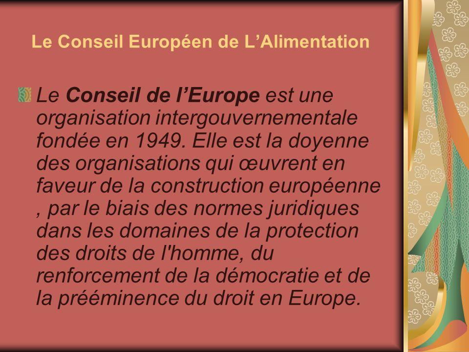 Le Conseil Européen de L'Alimentation