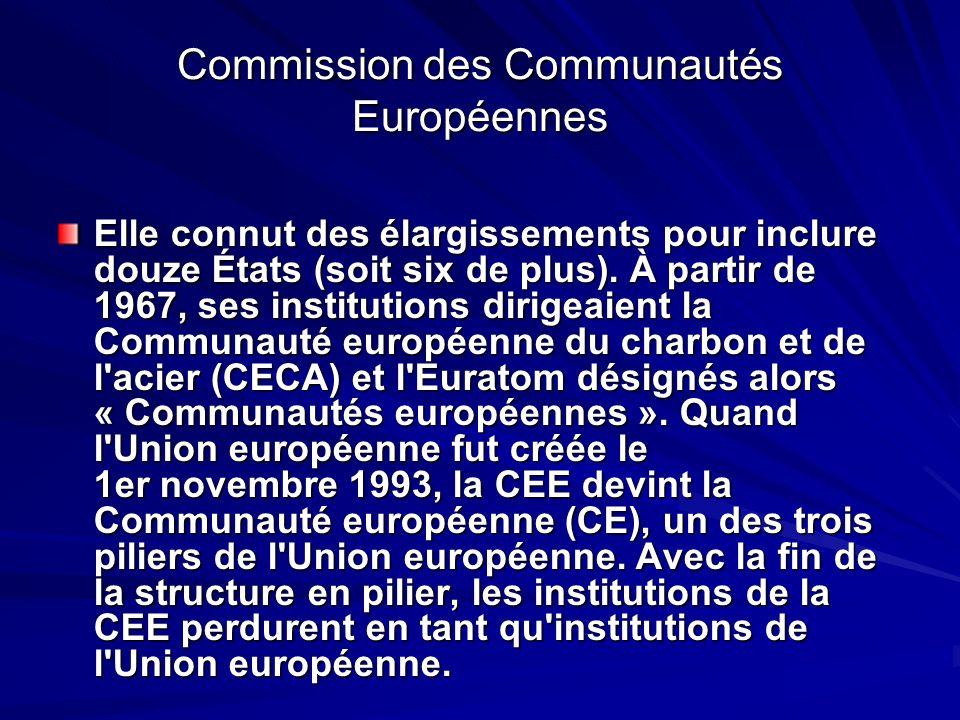 Commission des Communautés Européennes