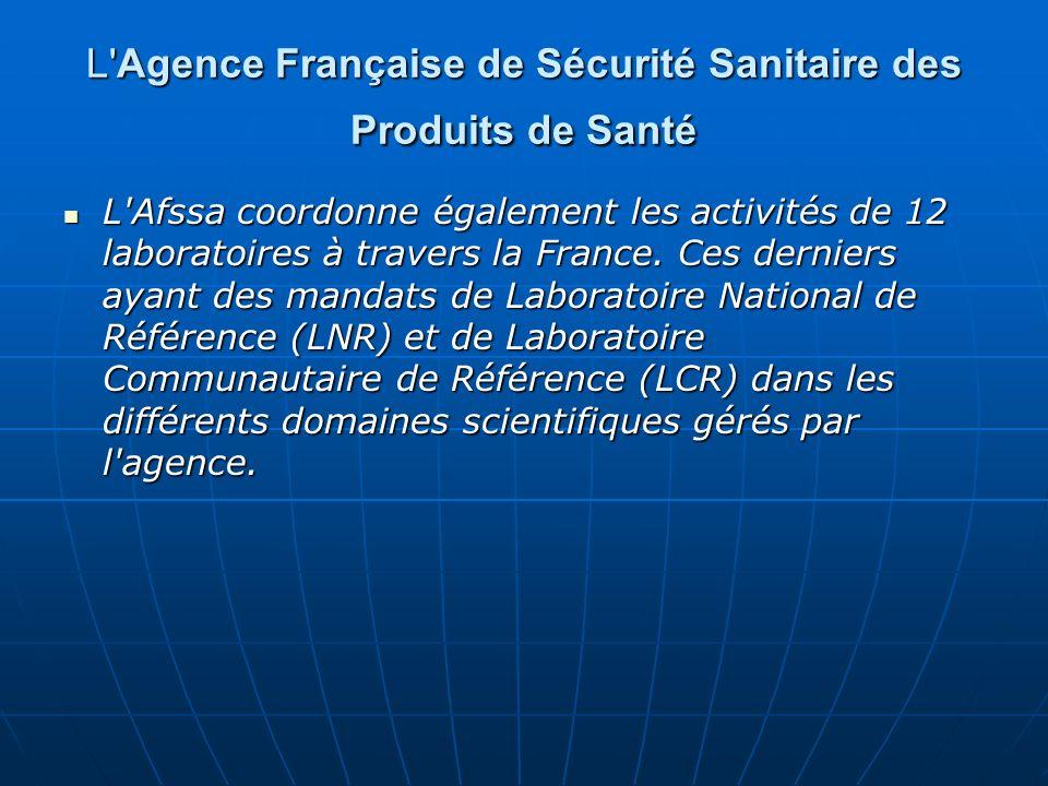 L Agence Française de Sécurité Sanitaire des Produits de Santé