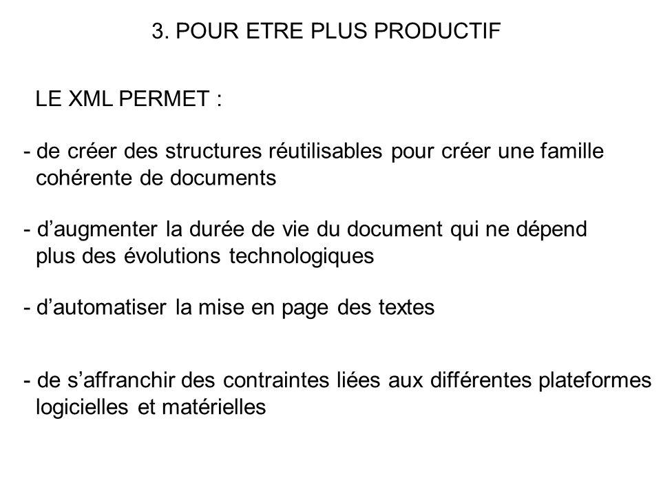 3. POUR ETRE PLUS PRODUCTIF