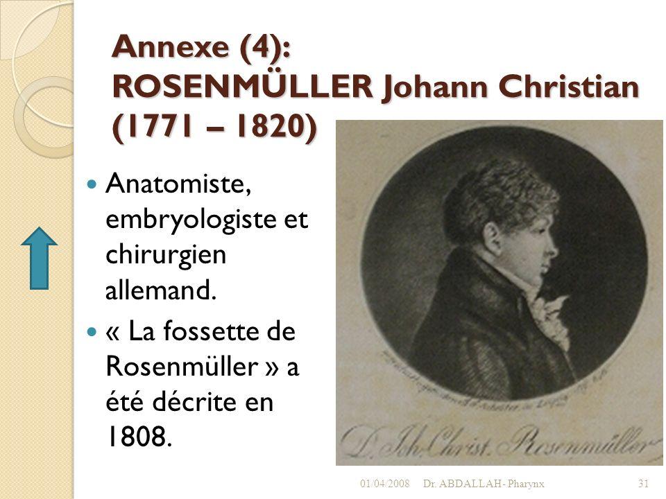 Annexe (4): ROSENMÜLLER Johann Christian (1771 – 1820)