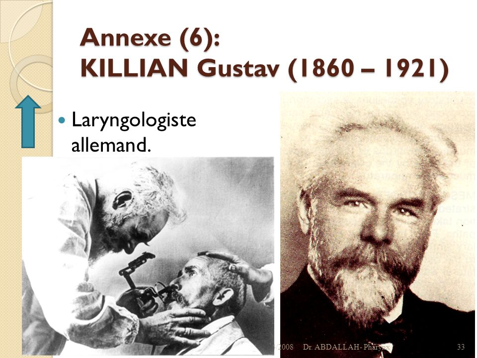 Annexe (6): KILLIAN Gustav (1860 – 1921)