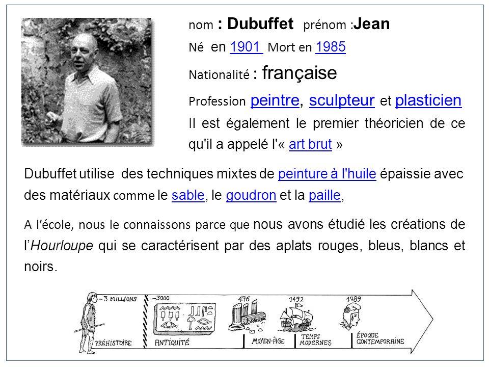 nom : Dubuffet prénom :Jean