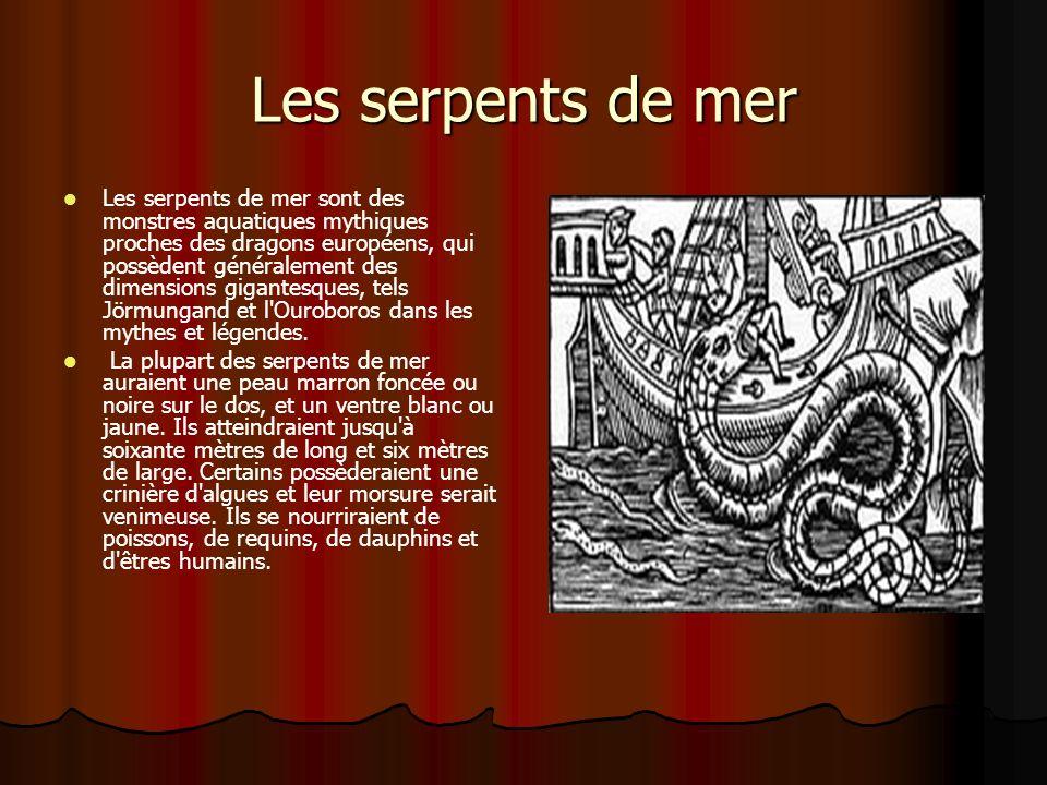 Les serpents de mer