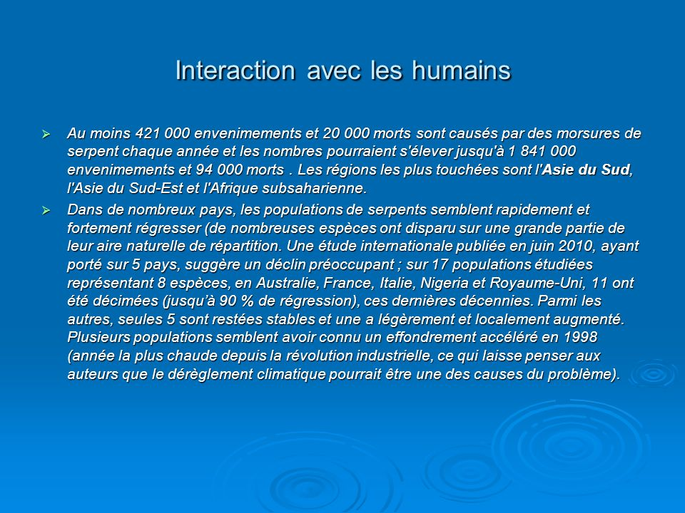 Interaction avec les humains