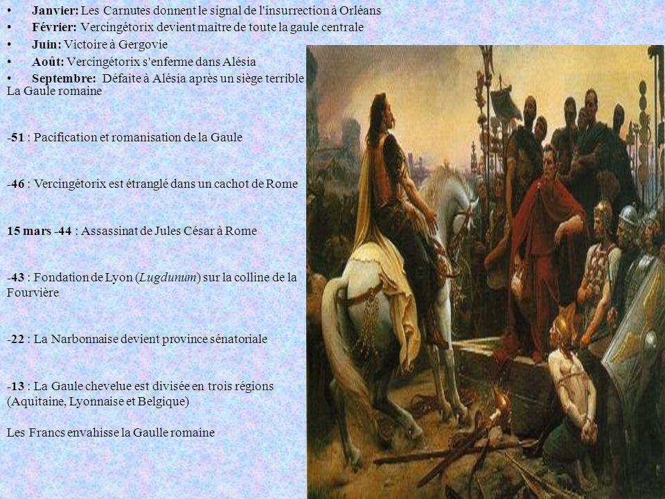 Janvier: Les Carnutes donnent le signal de l insurrection à Orléans