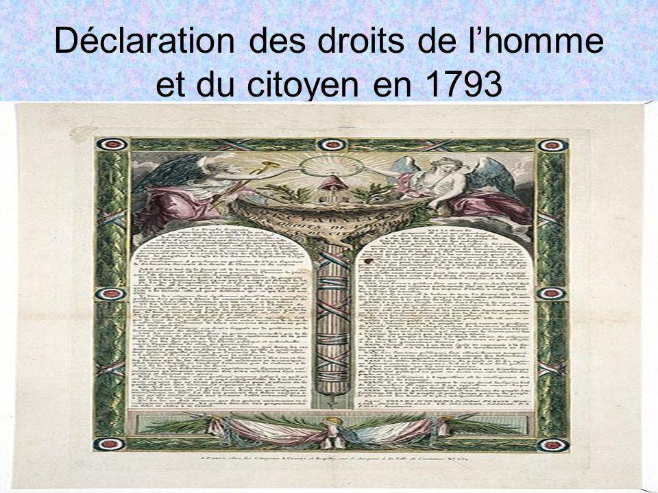 Déclaration des droits de l'homme et du citoyen en 1793