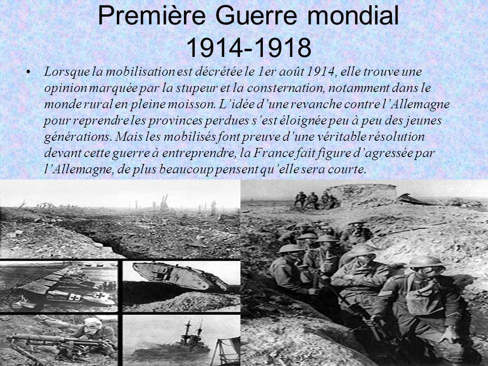 Première Guerre mondial 1914-1918