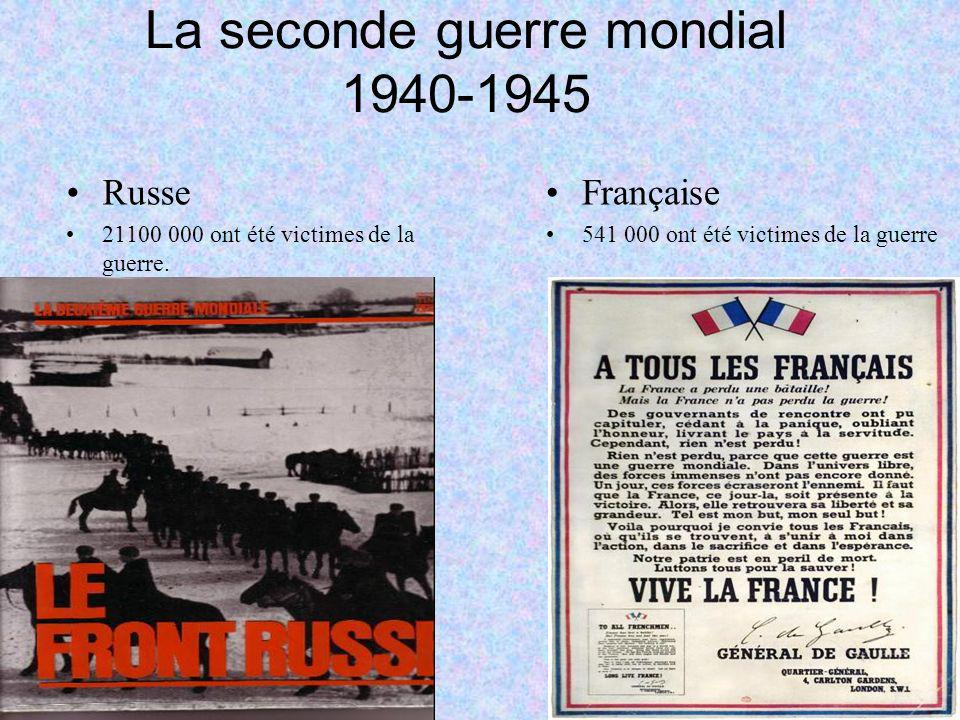La seconde guerre mondial