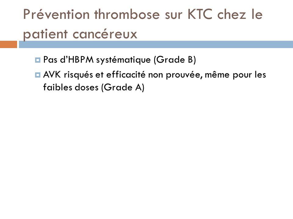 Prévention thrombose sur KTC chez le patient cancéreux