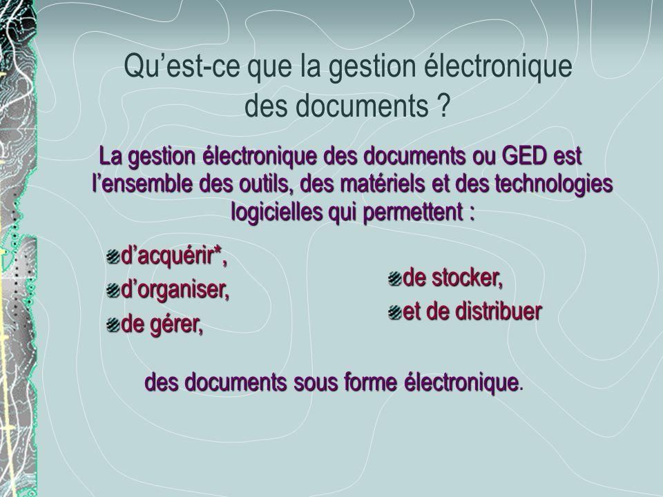 Qu'est-ce que la gestion électronique des documents