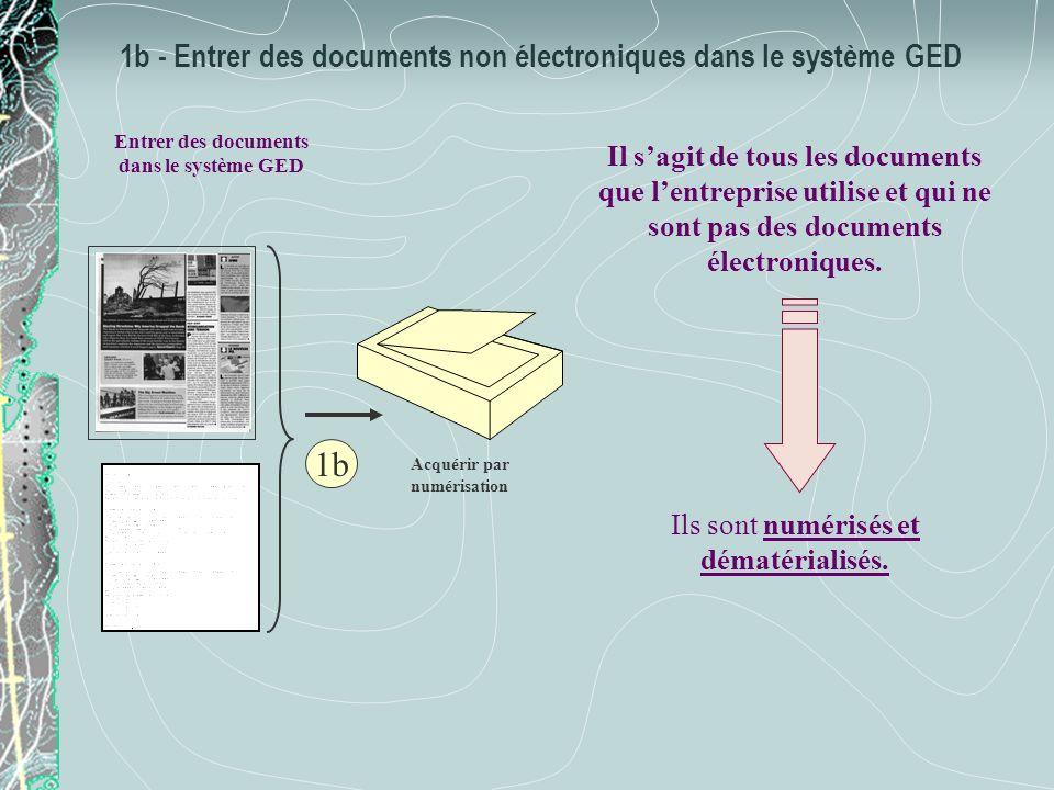 1b - Entrer des documents non électroniques dans le système GED