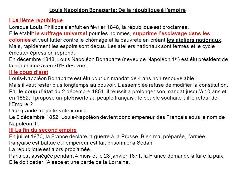 Louis Napoléon Bonaparte: De la république à l'empire