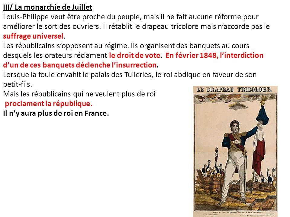 III/ La monarchie de Juillet