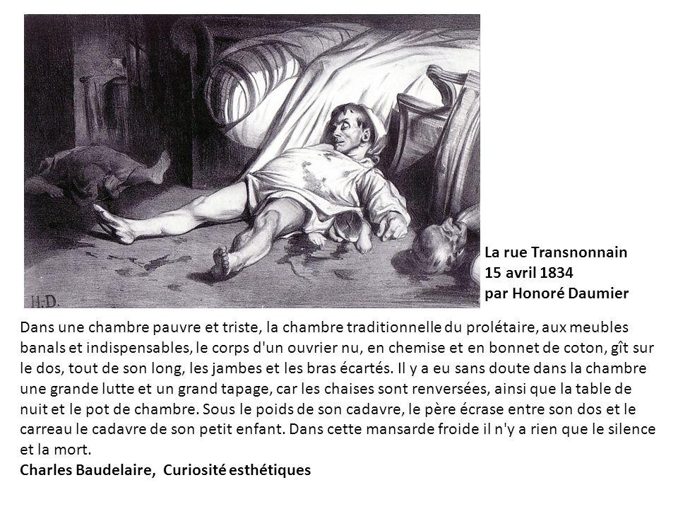 La rue Transnonnain 15 avril 1834. par Honoré Daumier.