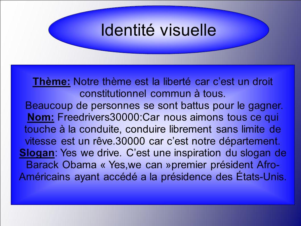 Identité visuelle Thème: Notre thème est la liberté car c'est un droit