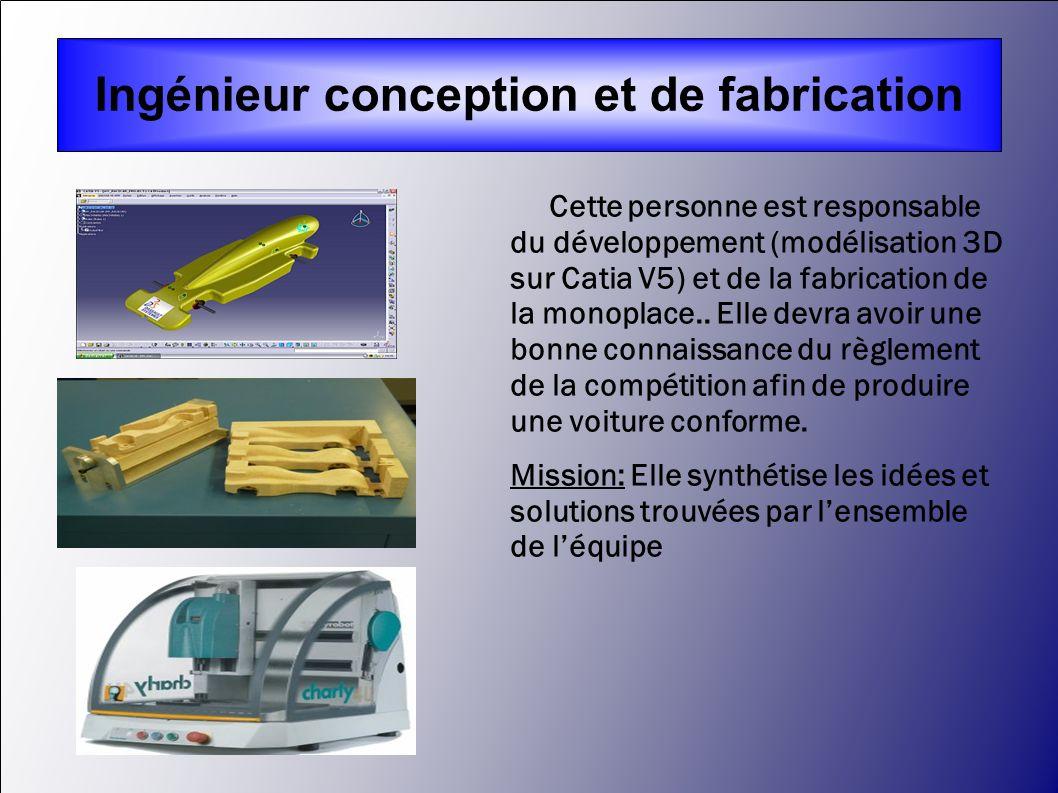 Ingénieur conception et de fabrication