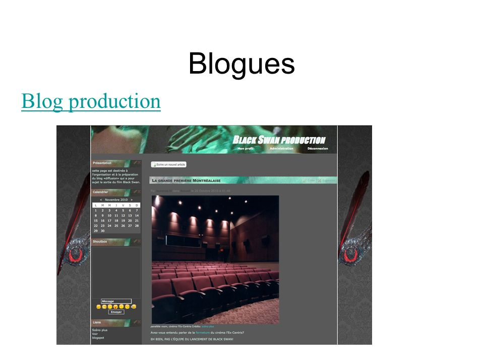 Blogues Blog production