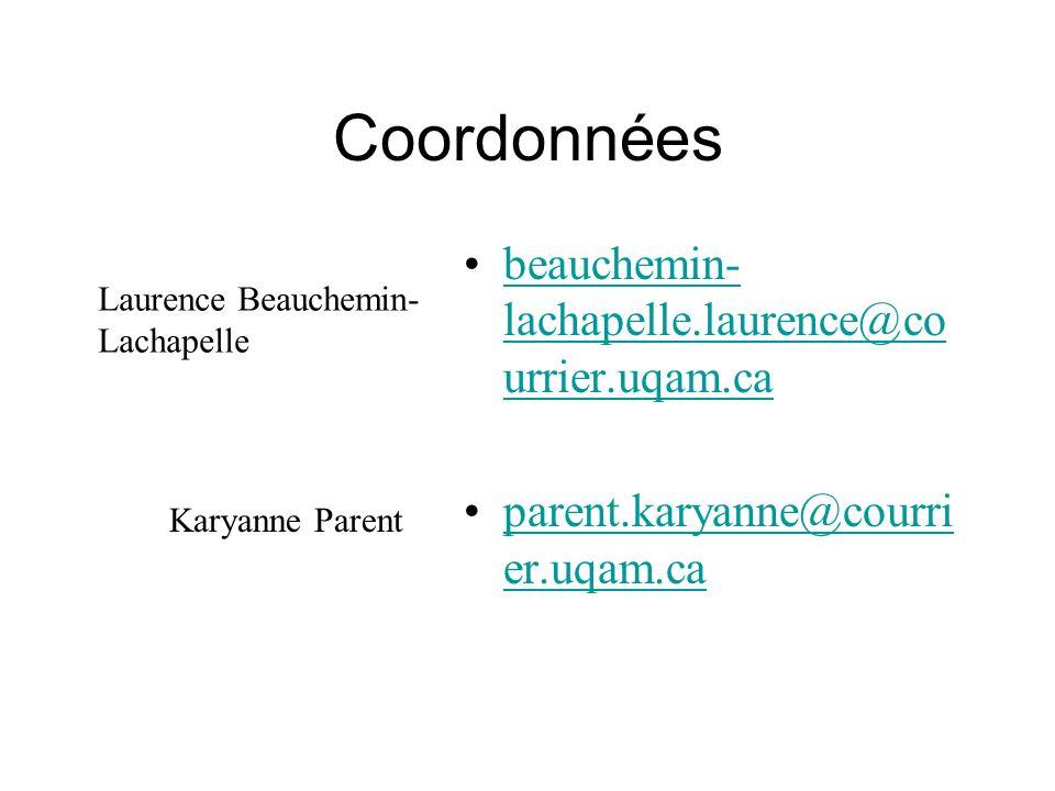 Coordonnées beauchemin-lachapelle.laurence@courrier.uqam.ca