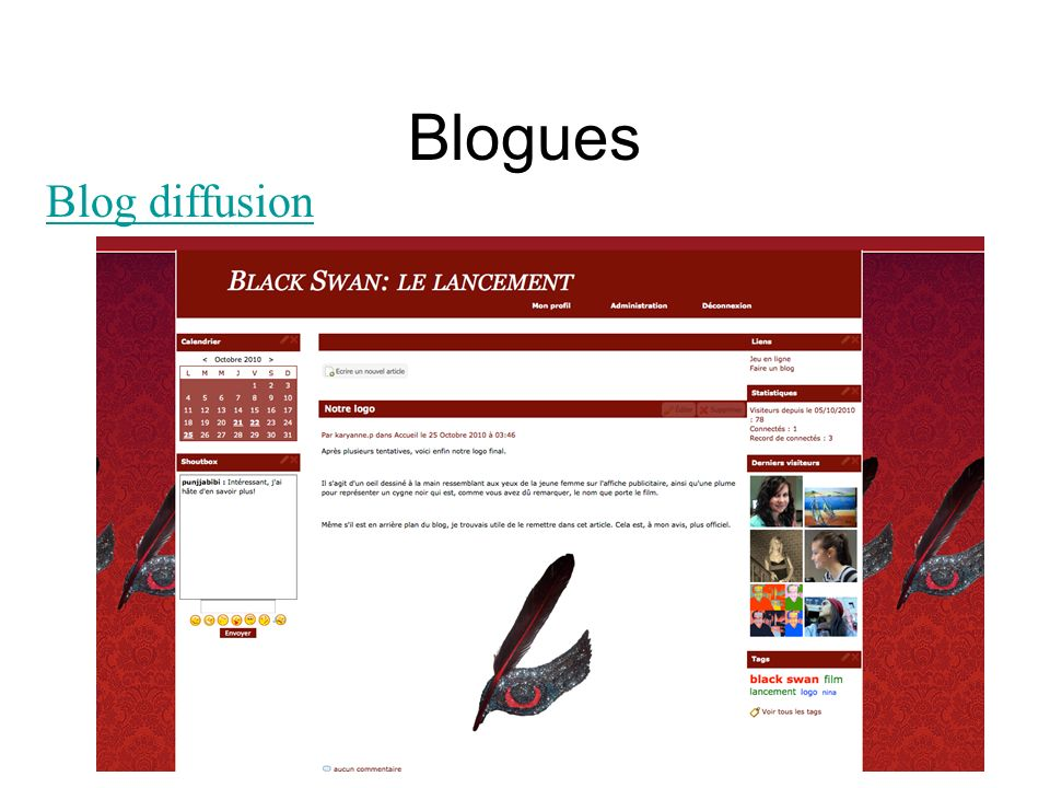 Blogues Blog diffusion