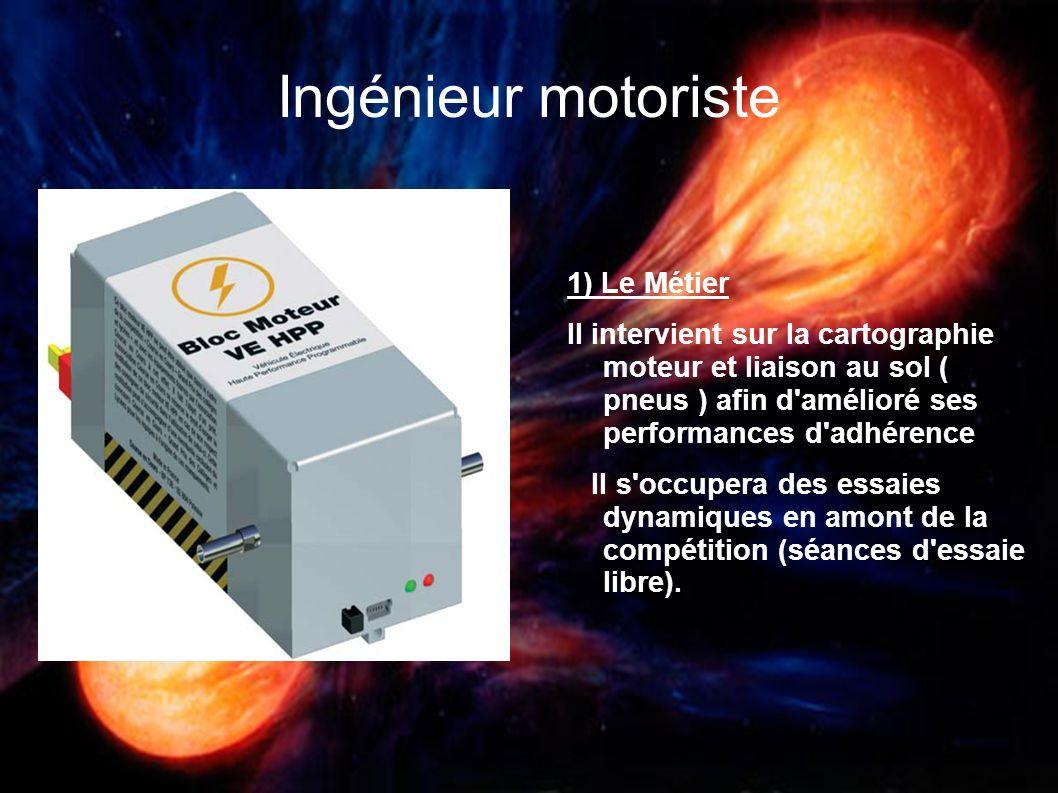 Ingénieur motoriste 1) Le Métier