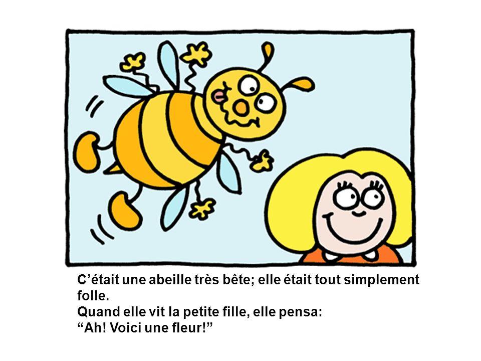 C'était une abeille très bête; elle était tout simplement folle.