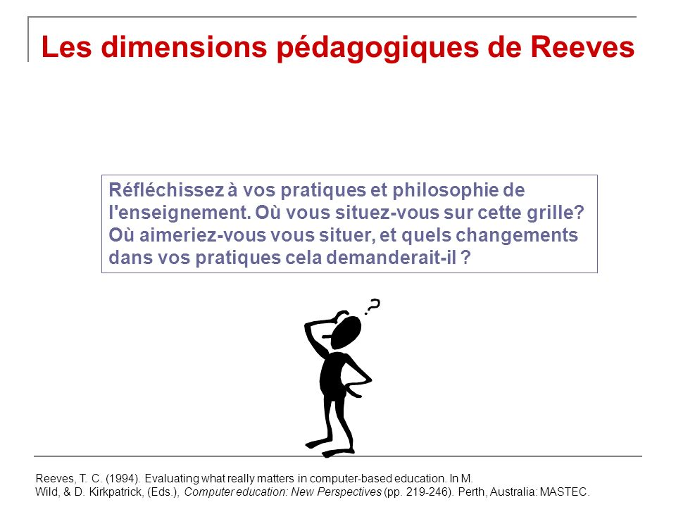 Les dimensions pédagogiques de Reeves