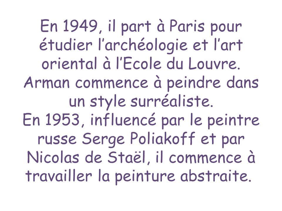 En 1949, il part à Paris pour étudier l'archéologie et l'art oriental à l'Ecole du Louvre.
