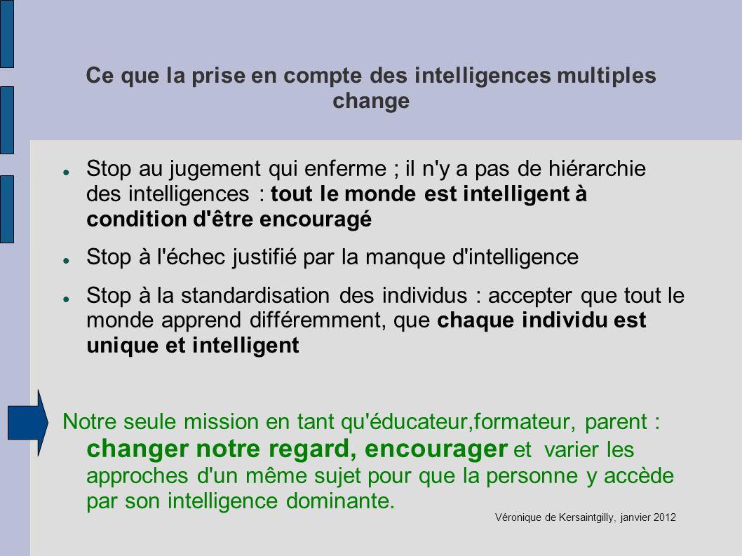 Ce que la prise en compte des intelligences multiples change