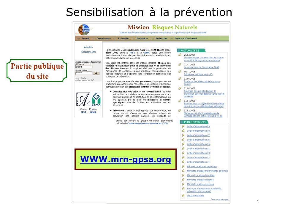 Sensibilisation à la prévention
