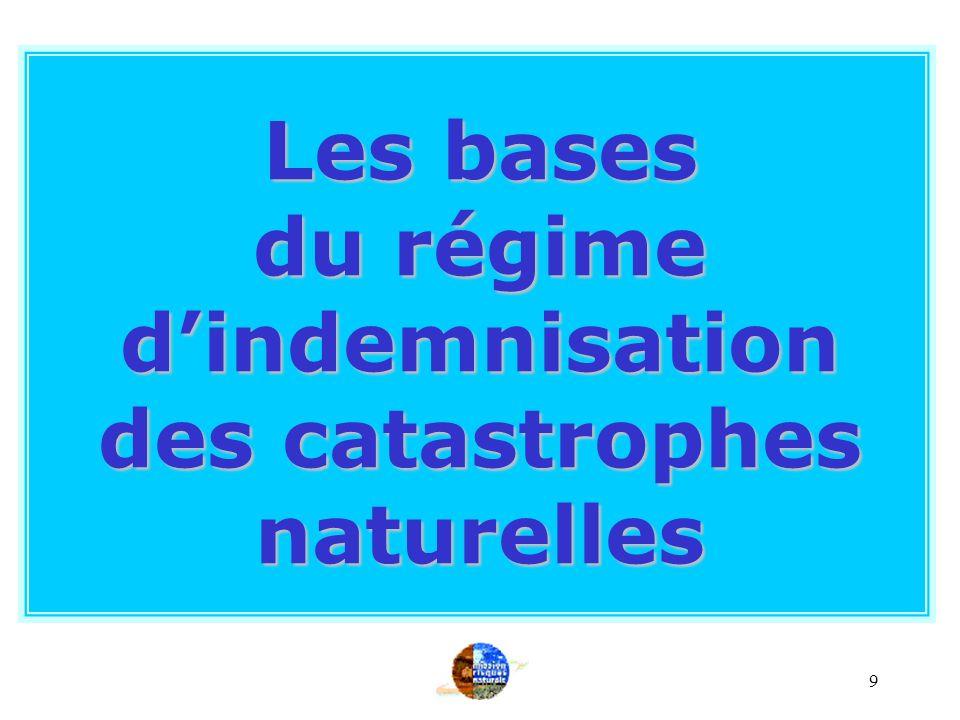 du régime d'indemnisation des catastrophes naturelles