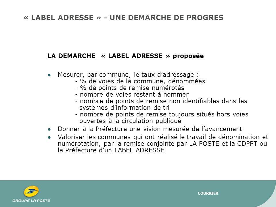 « LABEL ADRESSE » - UNE DEMARCHE DE PROGRES