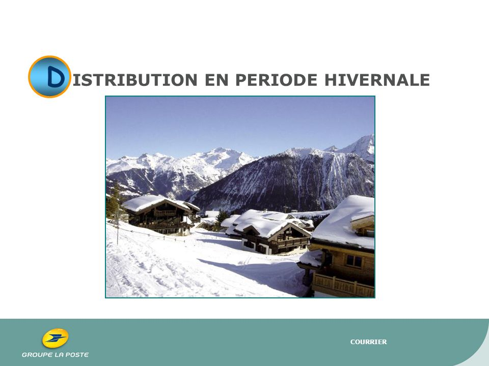 ISTRIBUTION EN PERIODE HIVERNALE
