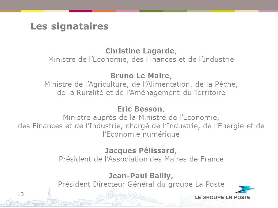 Les signataires Christine Lagarde,