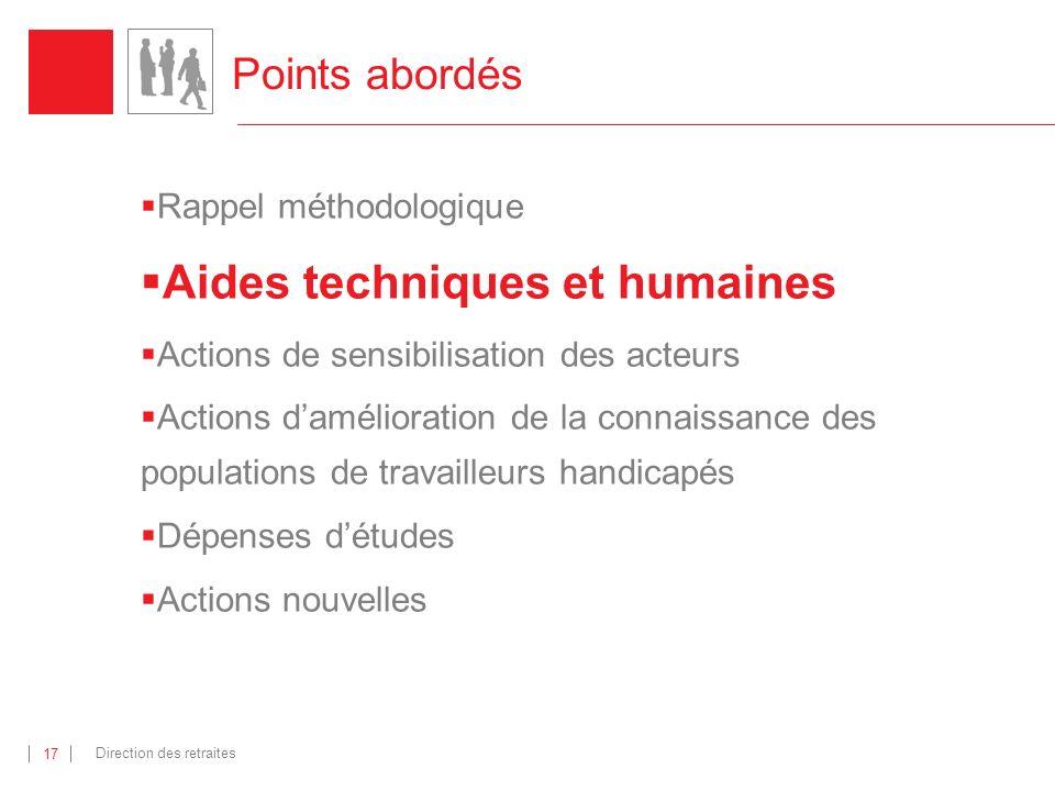 Aides techniques et humaines