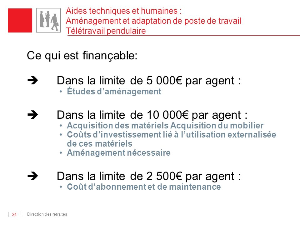 Dans la limite de 5 000€ par agent :